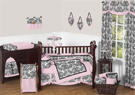 Black And Pink Crib Bedding Sets Pink And Black Crib Bedding 9pc Crib Set Only 189 99