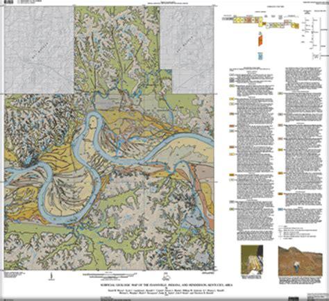kentucky bedrock map usgs scientific investigations map 3069 surficial