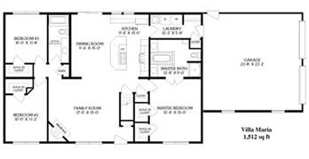 rectangular open floor plan simple open ranch floor plans style villa house