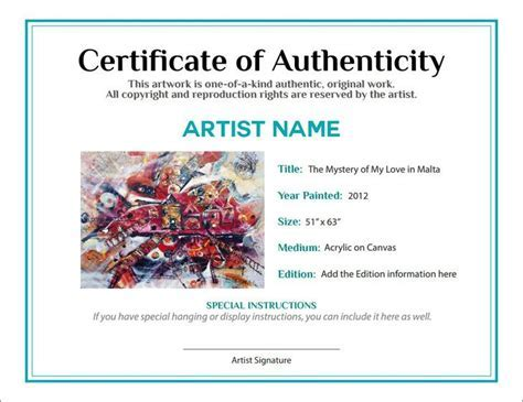 Free printable certificate of authenticity templates un mission certificate of authenticity templates download free yadclub Gallery