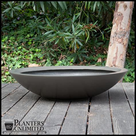 Wide Shallow Plant Pots Image Gallery Large Planter Bowl