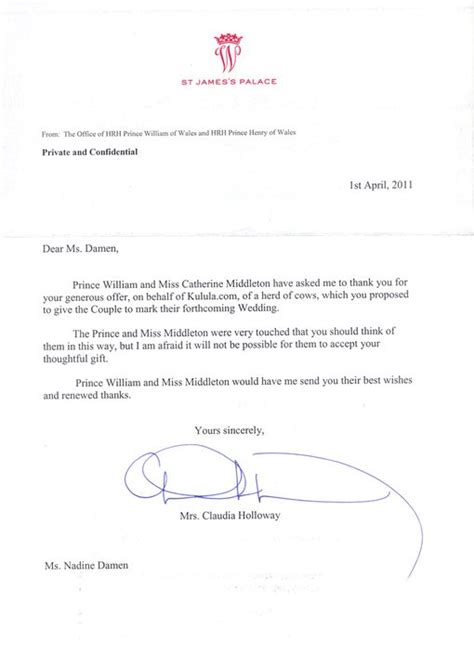 Letter In Xhosa Kulula Offers Cows For Kate