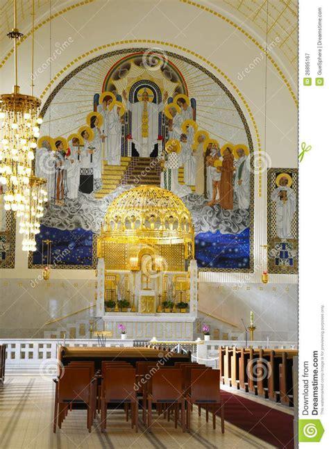 art nouveau jugendstil church royalty  stock