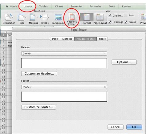 excel tutorial header how to insert custom header in excel 2010 free excel