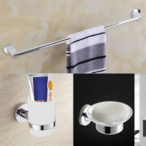 modern diy chrome bathroom accessories set soap towel