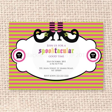 printable birthday invitations halloween theme 17 best images about halloween party on pinterest