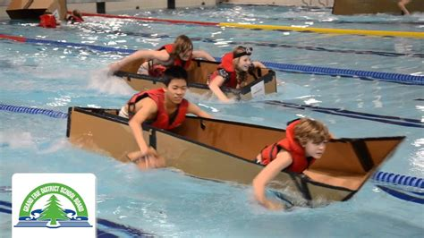 how to make a boat at school eleven grand erie schools make a splash at cardboard boat