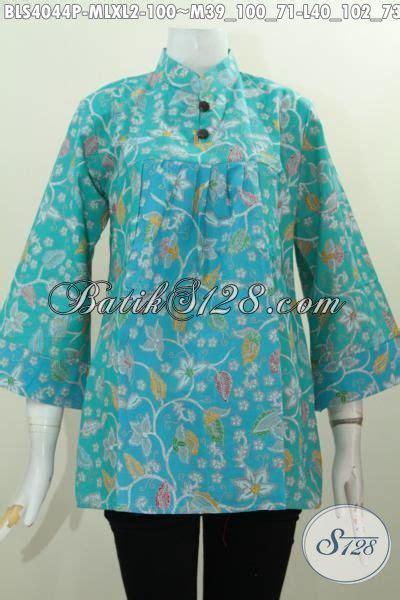 Blus Batik Biru Xl blus batik printing warna biru model terkini yang bikin wanita terlihat berkelas busana batik