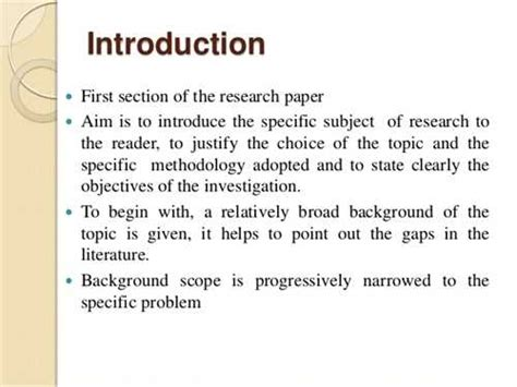 writing a introduction for a research paper xyz