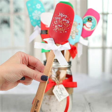 Wedding Shower Favor Bags by Christmas Silicone Spatula Mini Kitchen Utensils