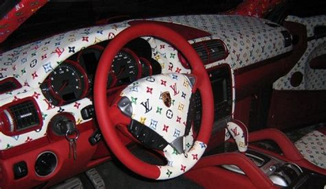 Louis Vuitton Car Upholstery by Overkill Porsche Cayenne With Louis Vuitton Interior