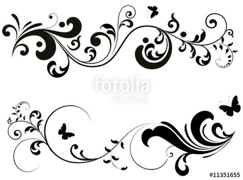 stencil plantillas orlas quot floral silhouette quot stock image and royalty free vector