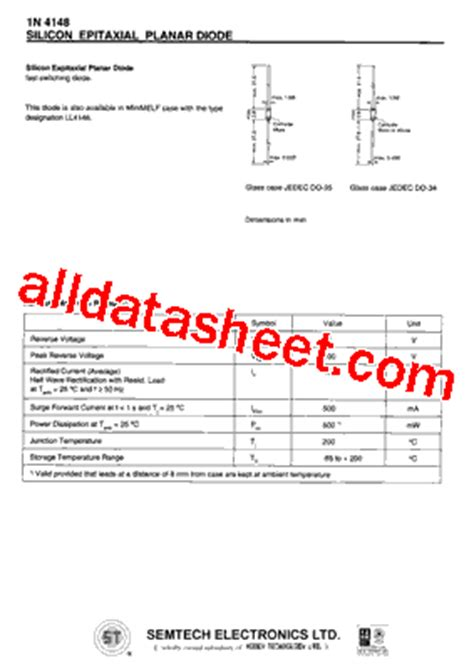 1n4148 zener diode datasheet pdf st4148 zener diode datasheet 28 images 1n4148 datasheet pdf ark electronics 1n4148 diodo de