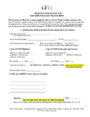 Ged Verification Letter bill of sale form south carolina health care power of
