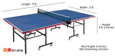 official ping pong table size what is the official standard size of a ping pong table
