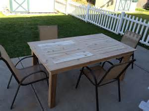 Patio Table Plans White Patio Table Diy Projects