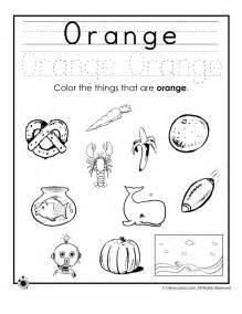 coloring pages learning colors worksheets preschoolers color orange worksheet colouring