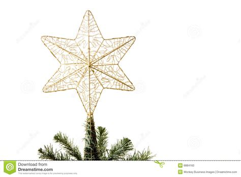star on top of christmas tree stock photo image 6884160