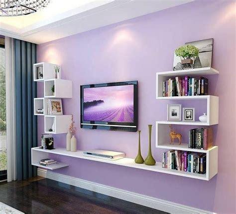 decoracion  area de television colorida diseno de interiores salas decoracion de tv