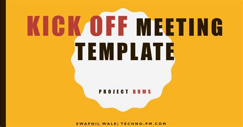 Project Kickoff Meeting Template Download Free Project Project Kickoff Meeting Presentation Template