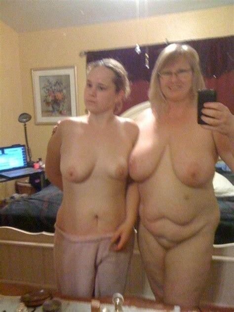 Hot Mom And Daughter Selfie