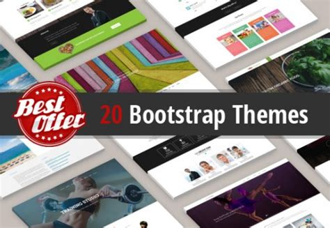 bootstrap themes bundle bootstrap templates bundle of 20 templates with commercial