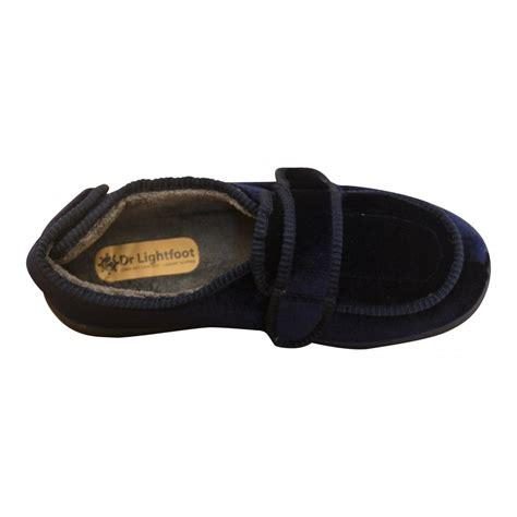 washable slippers dr lightfoot mens memory foam velcro washable slippers