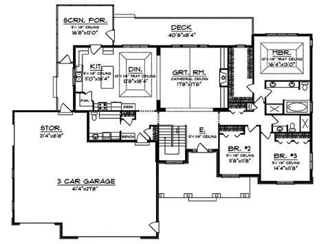 craftsman style floor plans branhill craftsman style home plan 051d 0664 house plans