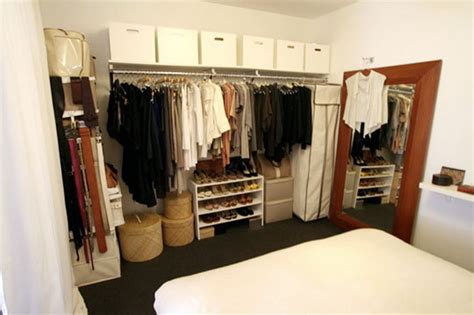 creating closet space in small bedroom open closets in small spaces apartment therapy