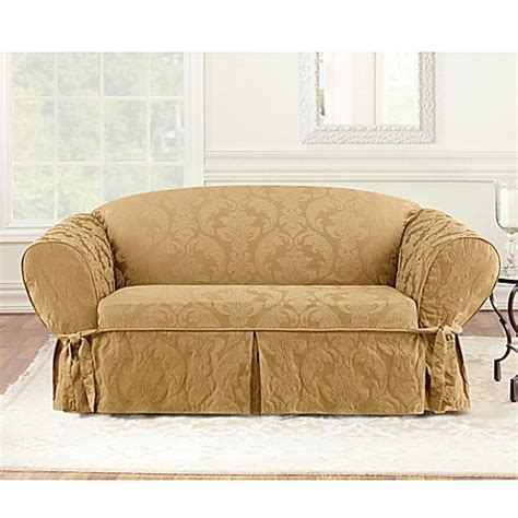 Damask Sofa Slipcover by Sure Fit 174 Matelasse Damask 1 Sofa Slipcover Bed