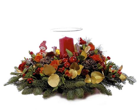 christmas centerpieces delivered candle table flowers limerick flower delivery ireland ring o roses florist
