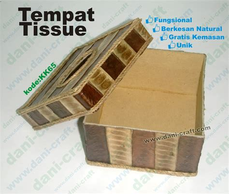 Tempat Tisue Unik Dari Kulit Telur tempat tissue kotak bahan lamtoro souvenir pernikahan