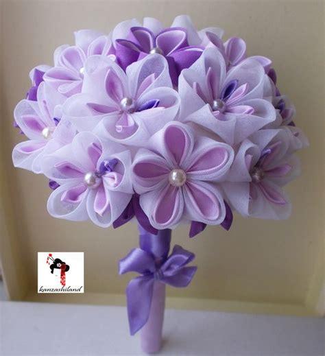 imagenes de flores japonesas en tela otros ramo de flores japonesas kanzashi para novia