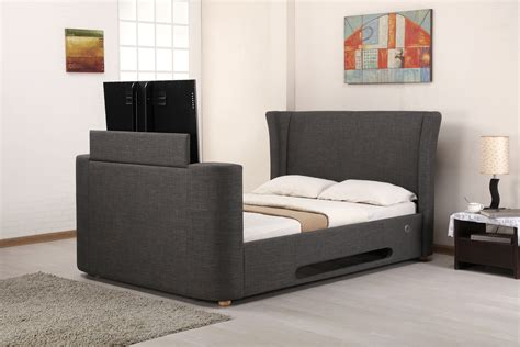 tv bed lb777 grey fabric music tv bed