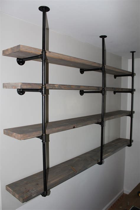 industrial storage shelves sylvie liv industrial rustic shelf tutorial