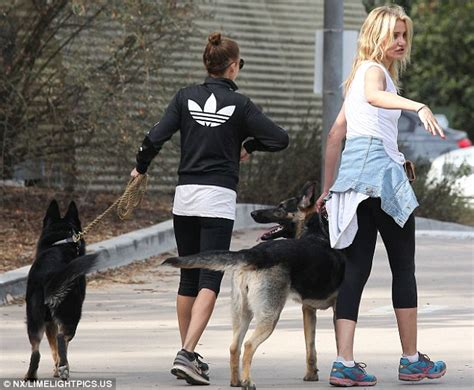 cameron diaz dog cameron diaz and nicole richie walk their dogs together in