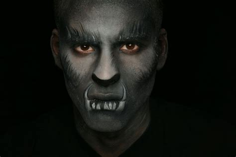 werewolf makeup tutorial male how to wolf halloween makeup tutorial youtube