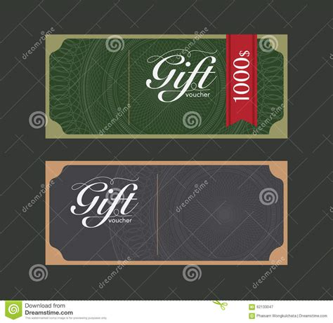 coupon template for adobe illustrator voucher design template stock vector image 62133047