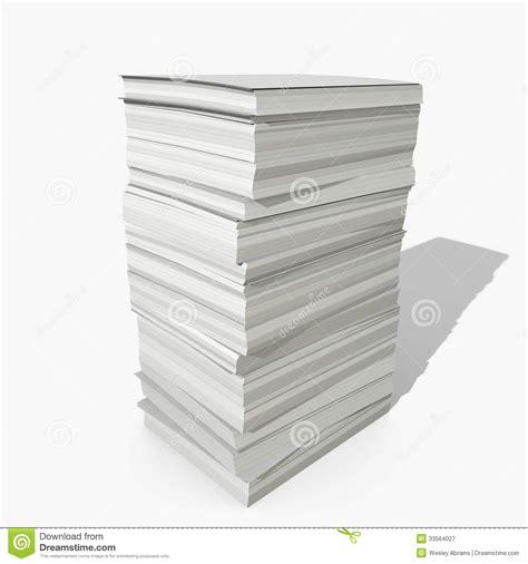 Of Paper - 3d paper stack stock illustration illustration of