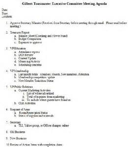 Executive Meeting Minutes Template by 205 Professional Meeting Agenda Templates Demplates