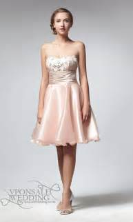 peach short sequined bridesmaid dress dvw0063 vponsale