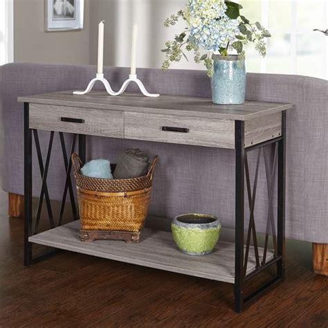 simple living seneca xx black grey reclaimed look sofa