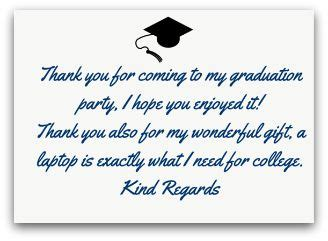 Thank You Note Template Graduation graduation thank you quotes for parents www pixshark