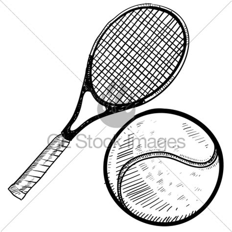 doodle tennis tennis and racquet sketch 183 gl stock images