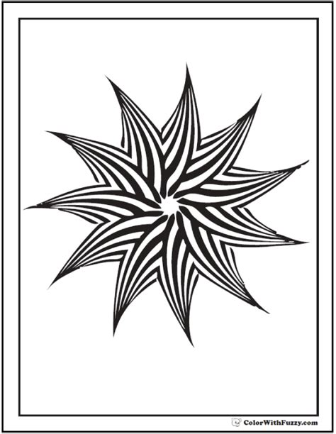 pinwheel designs coloring pages geometric patterns kids coloring pages