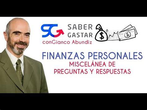 preguntas finanzas personales finanzas personales preguntas y respuestas de gianco