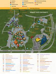Wright State Map by Campus Map Music College Of Liberal Arts Wright