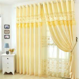 Soft Yellow Curtains Designs Soft Yellow Lace Floral Patterned Mission Style Curtains