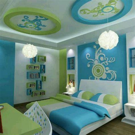 Blue And Green Bedrooms | blue and green bedroom these colors are a little bright