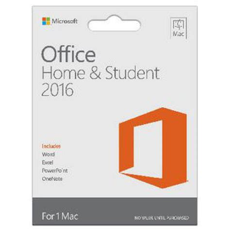 Microsoft Office For Mac Home Student microsoft office home and student 2016 for mac